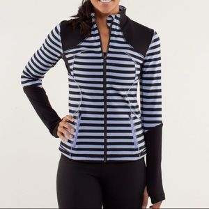 LuluLemon Forme Jacket Stripe Polar Haze/Black 6